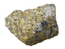 Accumulazione minerale: calcopirite. Fotografia Stock