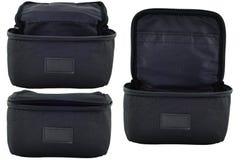 Accumulazione nera del cestino Fotografia Stock