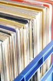 Accumulazione record del LP del vinile in cassa Immagine Stock