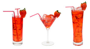 Accumulazione rossa del cocktail Fotografie Stock