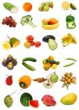 Accumulazione sana dell'alimento su bianco Immagine Stock Libera da Diritti
