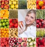 Accumulazione sana di cibo Fotografia Stock Libera da Diritti