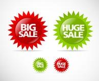 Accumulazione variopinta 2 del contrassegno di vendita Immagini Stock