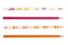 Accumulazione variopinta delle matite per gli scolari Fotografie Stock Libere da Diritti
