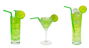 Accumulazione verde del cocktail Fotografie Stock
