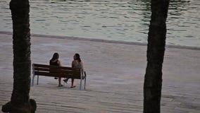 Accumuli con una fontana accanto al palazzo di Almudaina della La video d archivio