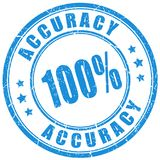 Accuracy vector stamp. On white background stock illustration