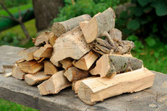 Accurate armful of firewood Stock Photography