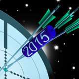 2015 Accurate Dart Target Shows Successful Future. 2015 Accurate Dart Target Showing Successful Future Stock Photos