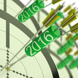 2016 Accurate Dart Target Shows Successful Future Stock Images