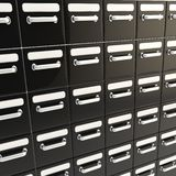 Accurate infinite rows of drawers Stock Images