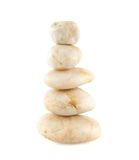 Accurate pile of the white stones Royalty Free Stock Photography