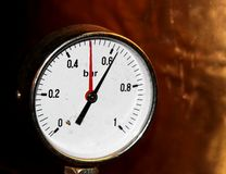 Accurate pressure gauge for measuring pressure Stock Photography