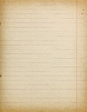 Accurate vintage lined paper empty background stock image