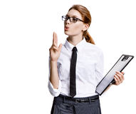 Accurate woman Royalty Free Stock Images