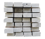 Accurately combined numbered granite blocks Royalty Free Stock Photography