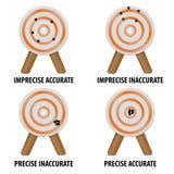 Accuratezza e precisione Fotografie Stock
