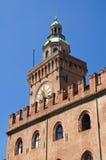 Accursio Kontrollturm. Bologna. Emilia-Romagna. Italien. Lizenzfreies Stockbild