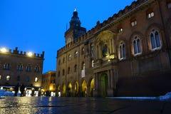 Accursio Palace. Bologna. Italy Stock Photo