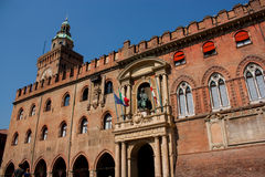 Accursio Palace  Bologna Stock Images