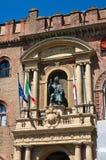 Accursio Palast. Bologna. Emilia-Romagna. Italien. Lizenzfreie Stockfotografie