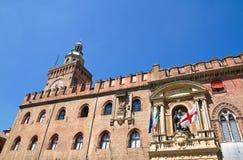 Accursio Palast. Bologna. Emilia-Romagna. Italien. Lizenzfreie Stockbilder