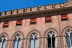 Accursio Palast. Bologna. Emilia-Romagna. Italien. Stockfotos
