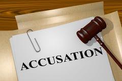 Accusation - concept juridique illustration libre de droits