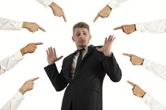 Accused businessman Royalty Free Stock Images