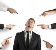 Accused businessman Stock Photography