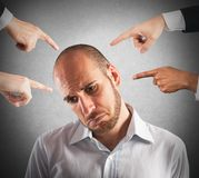 Accused businessman Royalty Free Stock Photography