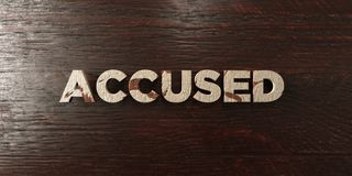 Accused - grungy wooden headline on Maple  - 3D rendered royalty free stock image Stock Photo
