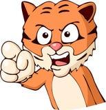 Accusing tiger cartoon Stock Photography