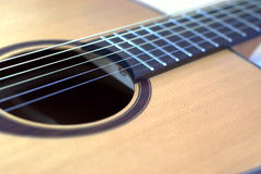 Accustic Guitare of clear wood Royalty Free Stock Photo