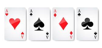 Ace вектор значка костюма карточки, вектор символов играя карточек, установите костюм символа значка, знак значка костюма карточк иллюстрация штока
