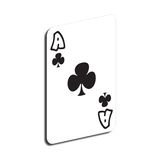 Ace. Card of ace on white background vector illustration
