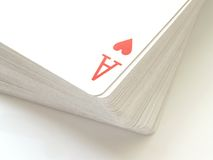 Ace. Of hearts pack of cards Stock Images