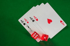 Ace And Dice Background Royalty Free Stock Photos
