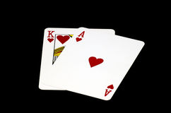 Free Ace And King Of Hearst Stock Images - 5449514