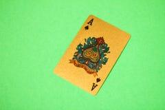 Ace auf Grün Stockbild