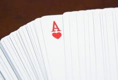 Ace av hjärtor Fotografering för Bildbyråer