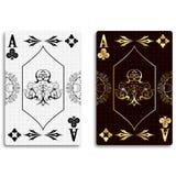 Ace av klubbor stock illustrationer