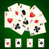 Ace card background Stock Image
