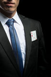 ace card in his suit pocket Royalty Free Stock Images
