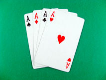 Ace card poker gambling. Luck win or lose game stock images