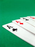 Ace card poker gambling Stock Images