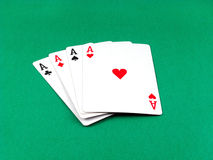Ace card poker gambling Royalty Free Stock Photo