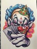 Ace-clown Royalty-vrije Stock Afbeeldingen