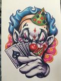 Ace clown Royalty Free Stock Images