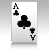 Ace of clubs Stock Images